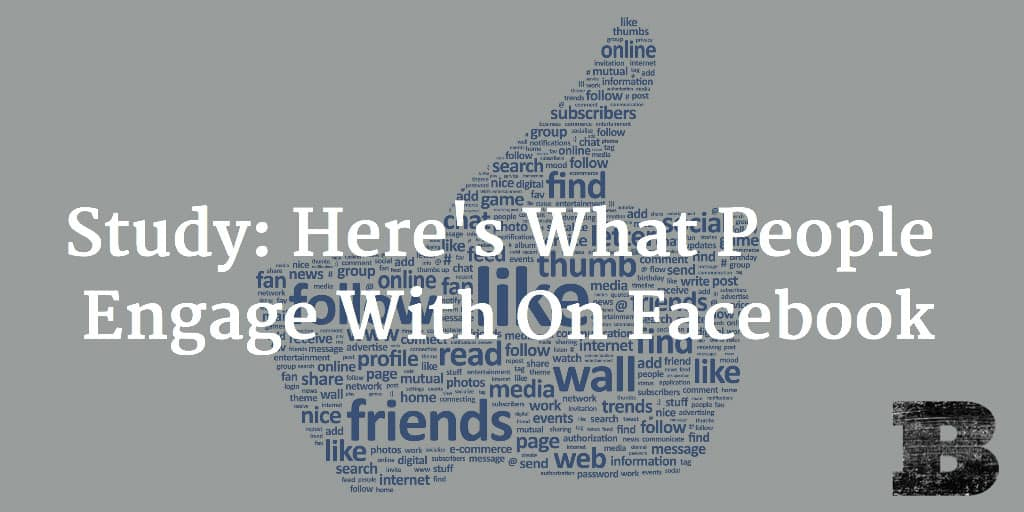 Study: Here's What People Engage With On Facebook