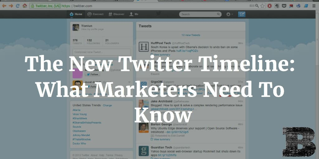The New Twitter Timeline: What Marketers Need To Know