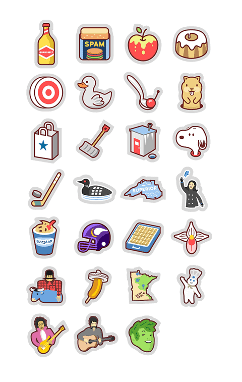 Minnesota Sticker Pack For iPhone