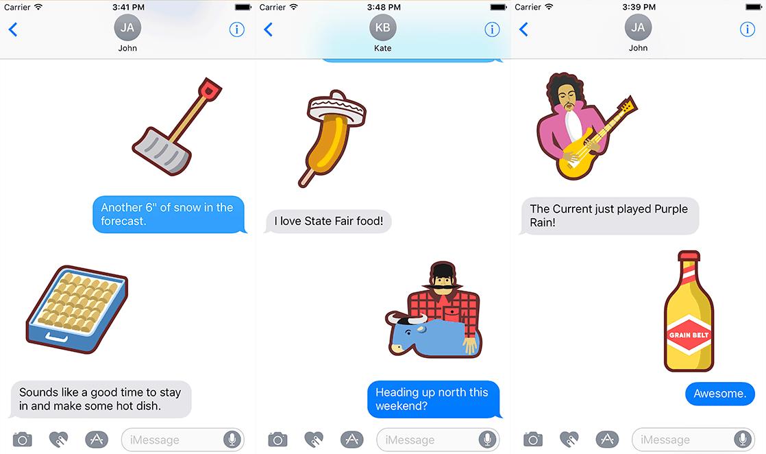 Minnesota Sticker Pack Messages