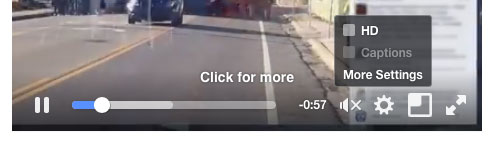 Facebook Video HD Button