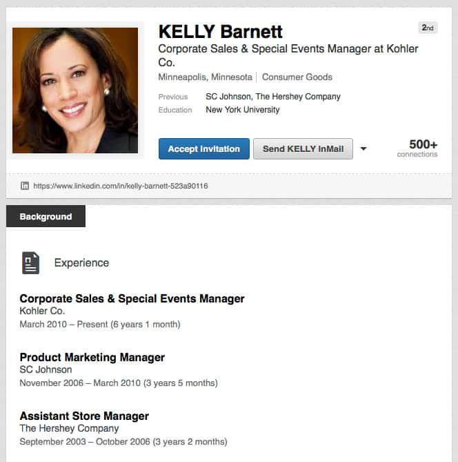 LinkedIn Fake Profile