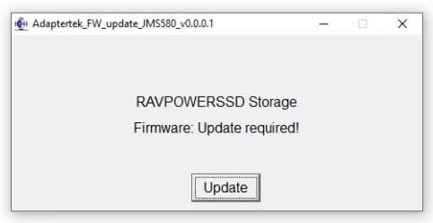 Updating Firmware RAVPower SSD